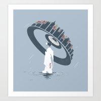 Raining 2 Art Print