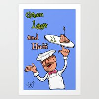Green Legs And Ham Art Print