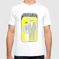 Rushmore SMALL White Mens Fitted Tee