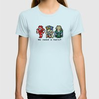 We Need A Hero Womens Fitted Tee Light Blue SMALL