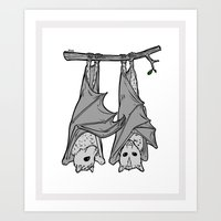 Tickle Bats Art Print