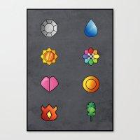 The Kanto Region Pokemon… Canvas Print