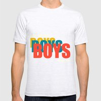 Boys Boys Boys Mens Fitted Tee Ash Grey SMALL
