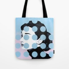 Audrey (Dots) by Famous When Dead Tote Bag