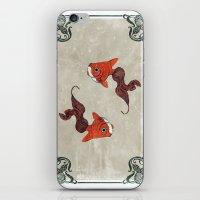 Peony Gold Fish iPhone & iPod Skin