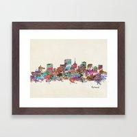 Richmond Virginia Skylin… Framed Art Print
