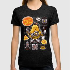 Mrs. Potato GLADos Womens Fitted Tee Tri-Black SMALL