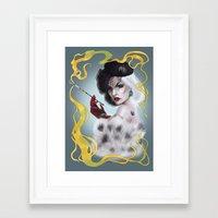 Cruella de Vil Framed Art Print