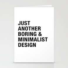 Boring And Minimalist Stationery Cards