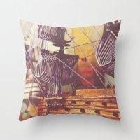 petite antique Throw Pillow