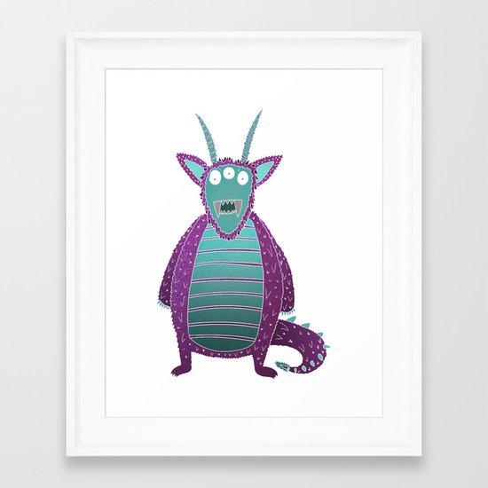 Purple Monster Framed Art Print