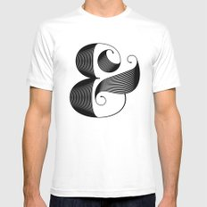 Ampersand Mens Fitted Tee White SMALL