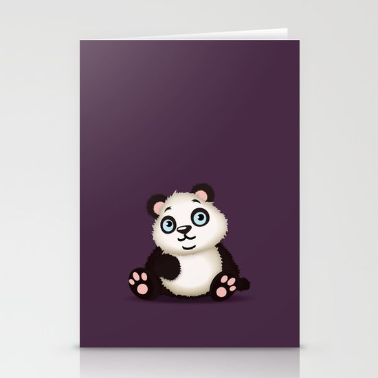 Panda Stationery Card