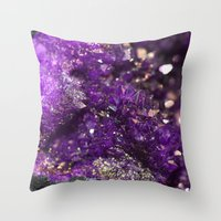 Geode Abstract Amethyst Throw Pillow