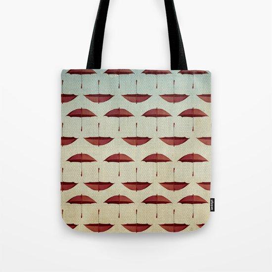 raining umbrellas pattern Tote Bag