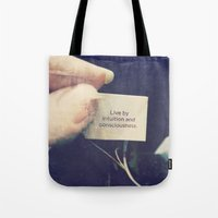 Live By Intuition And Co… Tote Bag