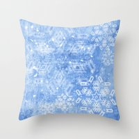 Abstract Snow Flakes On … Throw Pillow
