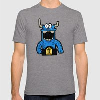 big blue Mens Fitted Tee Tri-Grey SMALL