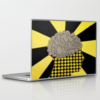 brain Laptop & iPad Skins featuring Brain by Art By Carob