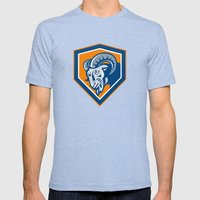 Ram Mountain Goat Head S… Mens Fitted Tee Tri-Blue SMALL