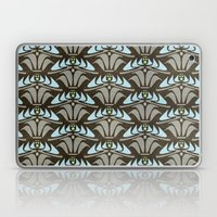 Blue - Arts and Crafts Inspired Stylized Floral Pattern - Susan Weller Laptop & iPad Skin