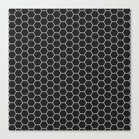 Black Hex Canvas Print