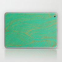 Wind Gold Turquoise Laptop & iPad Skin