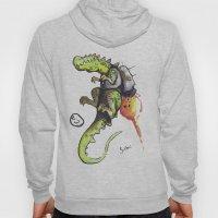 Dinosaur wearing Jetpack Hoody