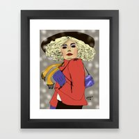 Woman of the 80s Framed Art Print