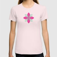 Pattern_03 [CLR VER I] Womens Fitted Tee Light Pink SMALL