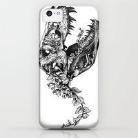 iPhone 5c Cases featuring Jurassic Bloom - The Rex.  by Sinpiggyhead
