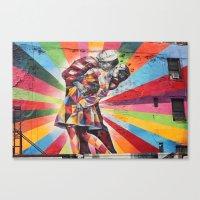 New York Graffiti Canvas Print