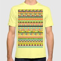 Summer Doodle Mens Fitted Tee Lemon SMALL