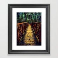 Cross The Bridge. Framed Art Print