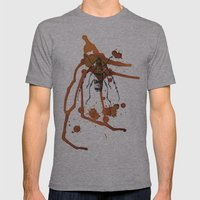 Insect in Ink 01 Mens Fitted Tee Athletic Grey SMALL