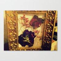 Framed Roses Canvas Print