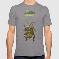 Military Mens Fitted Tee Tri-Grey SMALL