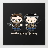Hello Ghostfacers Canvas Print