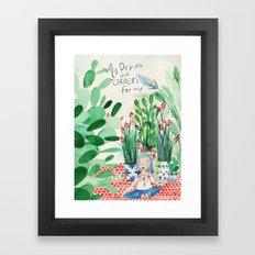 Mexican Princess thinks of Oscar Wilde Framed Art Print