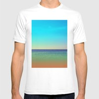 Mediterranean Sea Mens Fitted Tee White SMALL