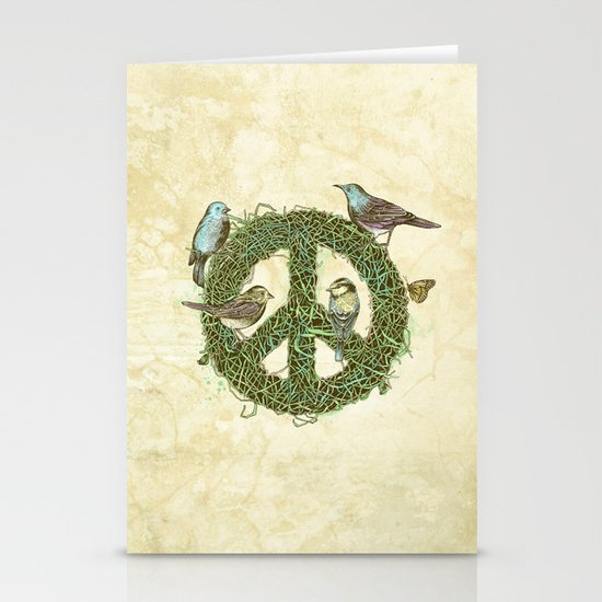 Peace Talks Stationery Card
