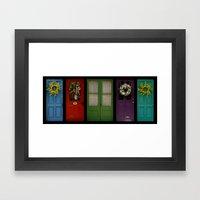 Doors Of Clinton Framed Art Print