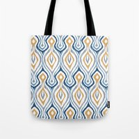 Sketchy Ikat - Saddle Tote Bag