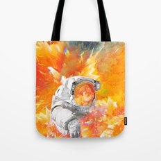 Engulfed Cosmonaut Tote Bag