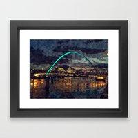 Newcastle Upon Tyne With… Framed Art Print