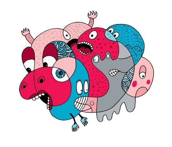 Rhino-Splat Art Print
