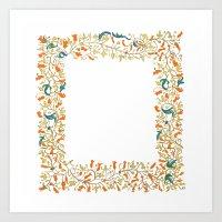 Orange Vine Square And O… Art Print