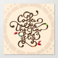 Coffee. The Flow Of Life… Canvas Print