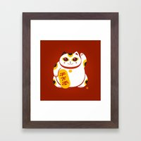 Lucky Cat 2 Framed Art Print