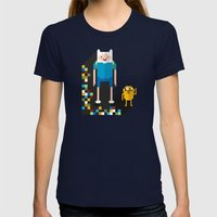 Finn The Pixel Womens Fitted Tee Navy SMALL